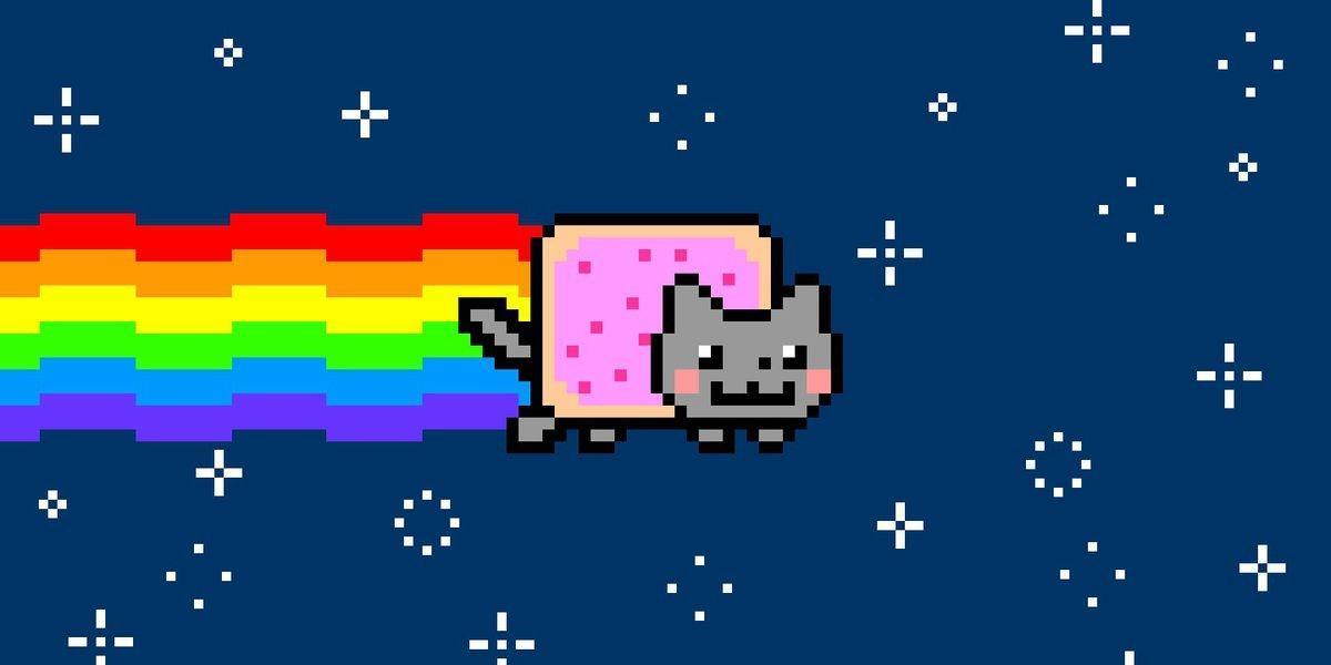 Nyan Cat - a 2011 meme promoted as an NFT